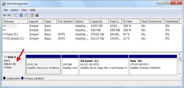 عدم نمایش صحیح ظرفیت درایو های کامپیوتر در ویندوز